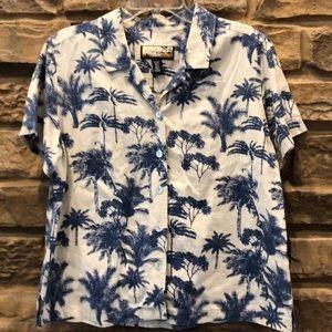 Havana Jack's Cafe Hawaiian Shirt Palm Tree Print